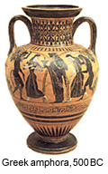 Ancient Greek amphora.