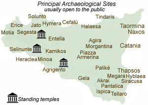 Cities In Sicily Italy Map.Sights To See And Things To Do In Sicily Ancient Archaeology