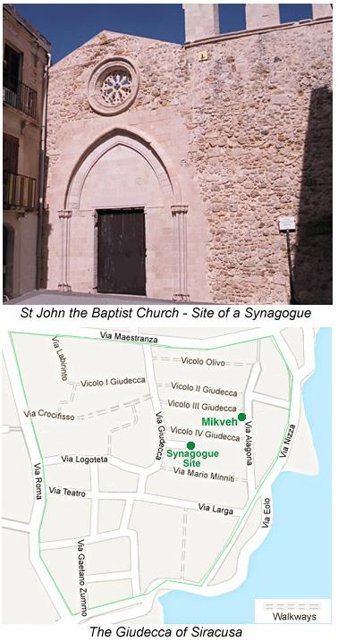 Mikveh of Siracusa Mikvah Miqwa Syracuse Giudecca Jewish