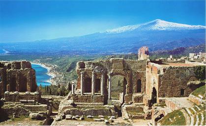 Etna from Taormina.