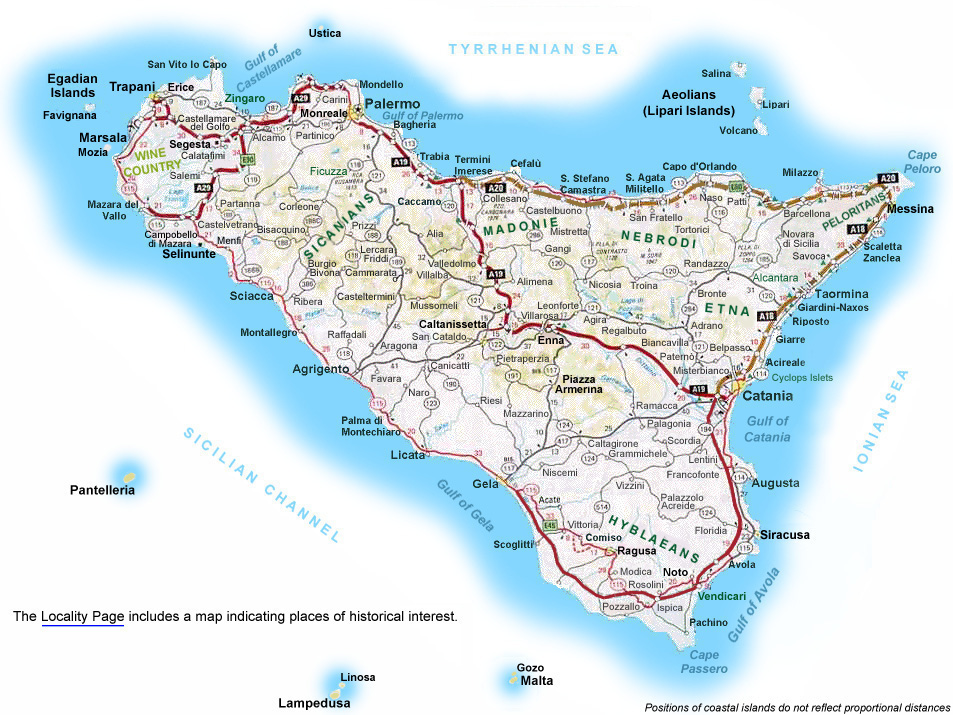 Map of Sicily - Sicily Italy Map - Maps of Sicily - Best of Sicily ...