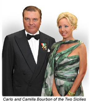 Carlo and Camilla of the Two Sicilies.